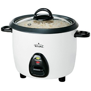 Rival RC101 10-Cup (Cooked) Rice Cooker with Steaming Basket, White/Black [並行輸入品]