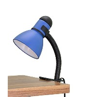 Aspen Creative 40038-3 Clip-On Lamp with Rotary Switch, Black/Blue [並行輸入品]