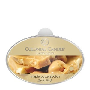 Colonial Candle Autumn Collection Maple Butterscotch Wax Simmer Snap [並行輸入品]