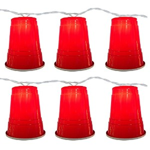 10 Count Red Party Cup Light Set [並行輸入品]