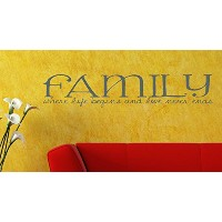 Wall Decor Plus More WDPM2468 Family Where Life Begins and Love Never Ends Home Wall Sticker, 36...