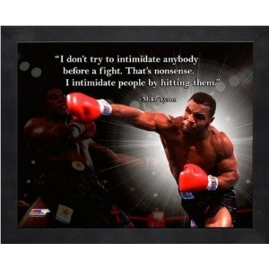 Mike Tyson Pro Quotes Framed 8x10 Photo #1 by Photo File [並行輸入品]