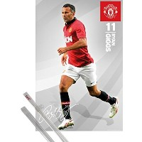 Poster + Hanger: Soccer Poster (36x24 inches) Manchester United, Giggs 13/14 and 1 set of 1art1?...