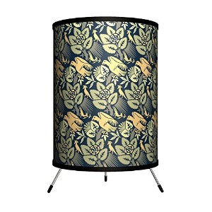 Lamp-In-A-Box TRI-DEC-FLWBR D?cor Art - Flowers and Birds Tripod Lamp [並行輸入品]