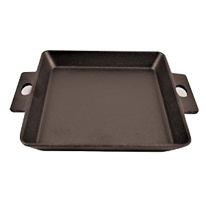 Paderno World Cuisine Cast Iron Square Griddle, 5 3/4-Inch [並行輸入品]