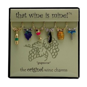 Wine Things WT-1409P Grapevine Wine Charms, Painted [並行輸入品]