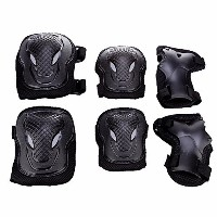 Kk 100 Adult Unisex Cycling and Roller Blading Wrist Elbow Knee Protective Safety Gear Guard 6pcs...