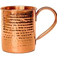 Melange Set of 2 Copper Classic Mug for Moscow Mules - 24 oz - 100% Pure Hammered Copper - Heavy...