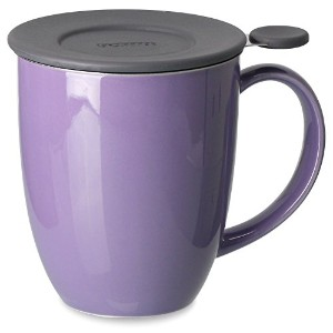 FORLIFE Uni Brew-in-Mug with Tea Infuser and Lid, 16-Ounce, Purple [並行輸入品]