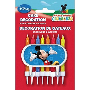 Mickey Mouse Cake Topper and Birthday Candles Set [並行輸入品]