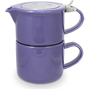 FORLIFE Tea for One Teapot with Infuser 14 oz., Purple [並行輸入品]