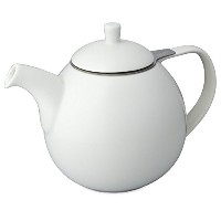 FORLIFE Curve 45-Ounce Teapot with Infuser, White [並行輸入品]