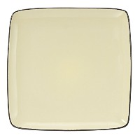Cuisinart Melle Collection Stoneware Open Stock Square Dinner Plate, 10.5-Inch, Yellow [並行輸入品]