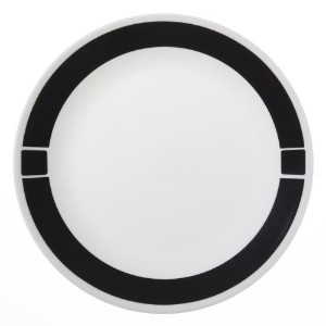 Corelle Livingware 6-Piece Dinner Plate Set, Urban Black [並行輸入品]