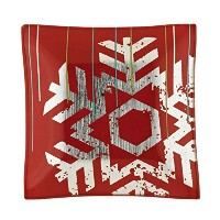Department 56 Winter White Frost Small Square Plate, 0.6-Inch [並行輸入品]