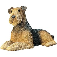 Sandicast Airedale Terrier Lying Sculpture, Mid-Size by Sandicast [並行輸入品]