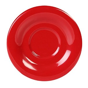 Excellant? Crimson Melamine Collection 5-1/2-Inch Saucer, Pure Red, 12-Piece [並行輸入品]