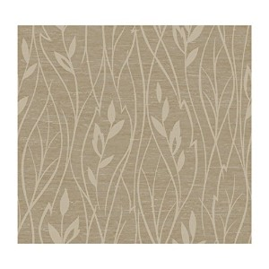 York Wallcoverings FV2158SMP Artistry Vertical Leaf 8-Inch x 10-Inch Wallpaper Memo Sample, Silvery...