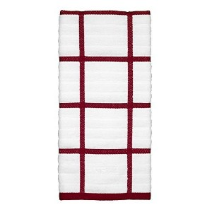 All-Clad Textiles 100-Percent Cotton Checked Kitchen Towel, Chili by All Clad Textiles [並行輸入品]