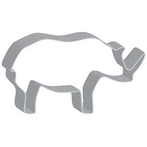 Flavortools Rhino Cookie Cutter with Exclusive Flavortools Copyrighted Cookie Recipe Booklet, 4...