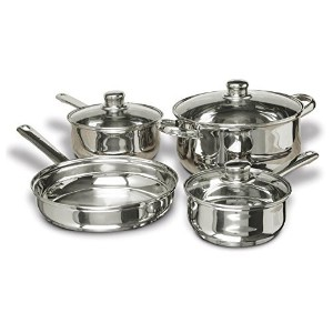 Concord Cookware SAS1700S 7-Piece Stainless Steel Cookware Set, includes Pots and Pans [並行輸入品]