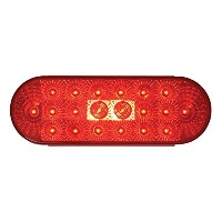 Grand General 77053 Red Oval Low Profile Spyder 20-LED Sealed Stop/Turn/Tail Light [並行輸入品]