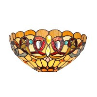 Chloe Lighting CH33353VR12-WS1 Tiffany Style Victorian 1-Light Wall Sconce, 12-Inch, Multicolored ...
