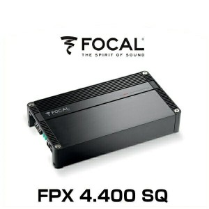 FOCAL フォーカル FPX 4.4000 SQ クラスAB 4chパワーアンプ 定格出力:4×70W(4Ω) 最大:4×100W(2Ω)