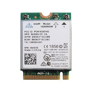 Intel Tri-Band Wireless-AC 18260 18260NGW WiGig (802.11ad) Wi-Fi (802.11ac/agn) + Bluetooth 4.1...