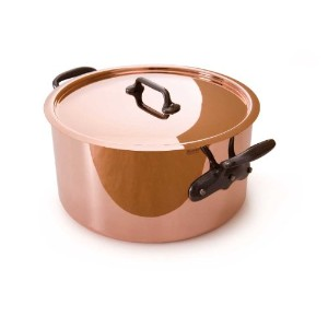 Mauviel Made In France M'Heritage Copper M250C 6505.02 6.4 Quart Stockpot with Lid and Cast-Iron...