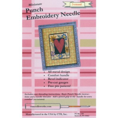 Miniature Punch Embroidery Needle-Red 3-Strand (並行輸入品)