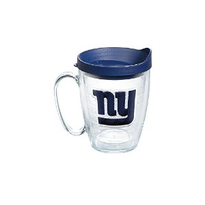 Tervis NFLニューヨークジャイアンツエンブレム個々Mug with Lid、16オンス、クリア