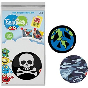 Easy Peasy Permanent Patches 3/Pkg-Adventure - Arghh, Peace & Camo (並行輸入品)