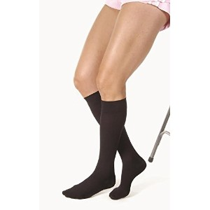 Jobst Relief 20-30 Closed Toe Knee High Compression Stockings, Black, Large Full Calf by Relief