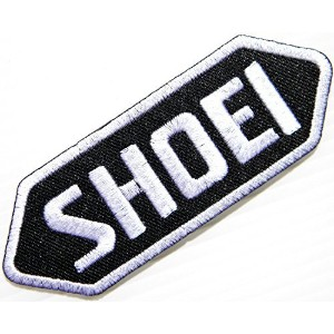 Black Shoei Helmet Racing Motorcycles Biker Bicycle Logo T-shirt Jacket Patch Sew Iron on Embroidere...