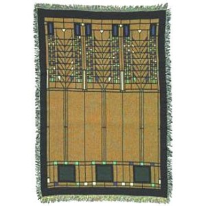 Frank Lloyd Wright Tree of LifeコットンTapestry Throw Blanket