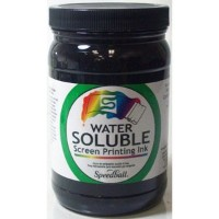 Speedball Non-Toxic Non-Flammable Water Soluble Screen Printing Ink, 1 qt Jar, Black by Speedball