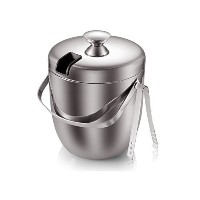 Fortune Candy(TM) Double Wall Stainless Steel Ice Bucket with Tong,3 Litre/0.8 Gal by Fortune Candy