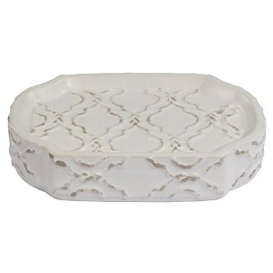 Jennifer Adams Chainlink Soap Dish, Ceramic [並行輸入品]