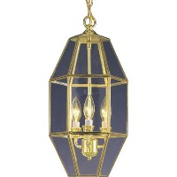 Volume Lighting V5061-2 3-Light Chandelier, Polished Brass [並行輸入品]