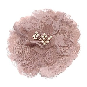 Cuteque International Victorian Lace Rose with Plastic Center Pearl Stamens, 4-Inch, Mauve, 3-Pack ...