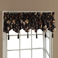 High Quality Henderson Window Treatment Valance, 54-Inch by 15-Inch, Black