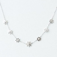 One&Only Jewellery フラワー ステーション ネックレス K18GP