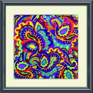 High Quality Paisley Needlepoint Kit-10 by 10-Inch