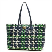 TORY BURCH トリーバーチ トートバッグ ROYAL NAVY/COURT GREEN/NEW IVORY ロイヤルネイビー/グリーン/アイボリー DUET WOVEN TOTE 35325...