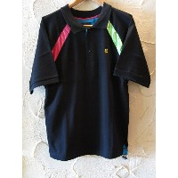 GROOVER GRAND/NEON S/S POLO BLACK