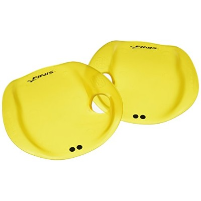 (Medium, Yellow) - FINIS Agility Strapless Hand Paddle for Swimming Training