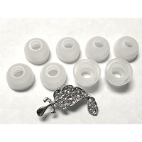 BSI 8pcs Large Clear High Quality Replacement Ear Gels Ear Buds for Motorola S9-HD S10-HD Wireless...
