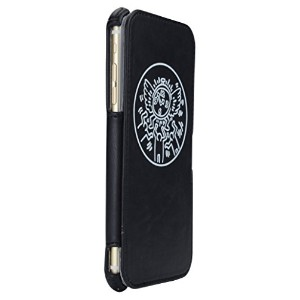 MSY GRAPHT Keith Haring Collection Flip Cover for iPhone6 Plus/iPhone6s Plus対応(Watch/Black/White)