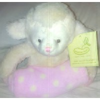 Animal and Blanket Toy and Blanket,Pink Lamb by Pem America